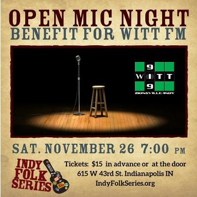 Open Mic Night Benefit at Indy Folk Series