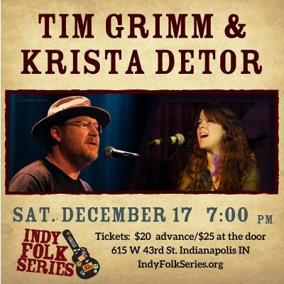 Tim Grimm and Krista Detor at Indy Folk Series