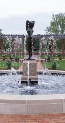Eve in fountain restored