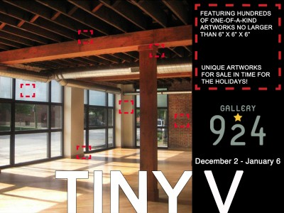 Gallery 924 Seeks Artwork for 5th Annual TINY Exhibition