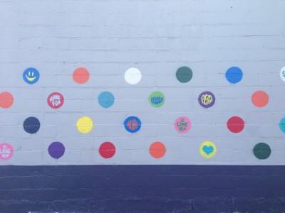Maple Crossing Positive Polka Dots