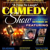 """Joy Christian Comedy Connection presents """"A Time To Laugh"""" Show & Dinner Buffet"""