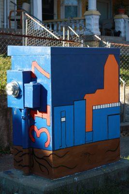 New York and Arsenal Traffic Signal Box