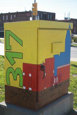 Washington and Southeastern Traffic Signal Box