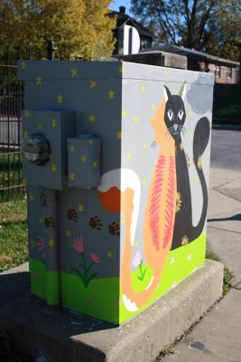 Michigan and Oriental Traffic Signal Box