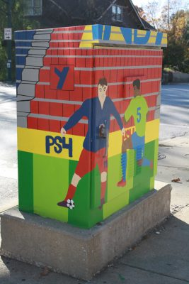 Michigan and Arsenal Traffic Signal Box