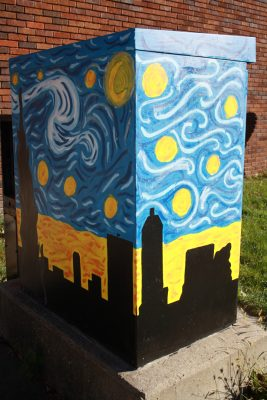 Michigan and State Traffic Signal Box