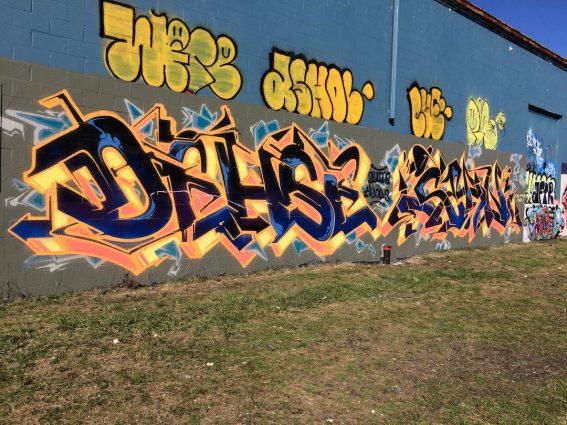 Koch's Electric Graffiti Wall - IndyArtsGuide org