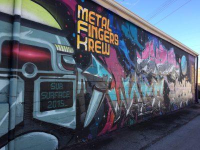 Metal Fingers Krew Mural