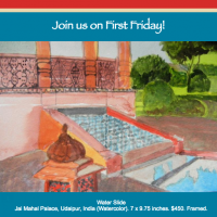 First Friday at Villa dell' Artista