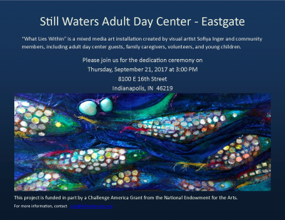 What Lies Within - a mixed media art installation for the lobby of Still Waters Adult Day Eastgate Center
