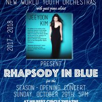 New World Youth Orchestras with pianist JeeYoon Ki...