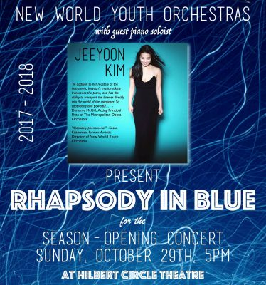New World Youth Orchestras with pianist JeeYoon Kim, Rhapsody in Blue