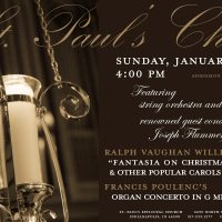 St. Paul's Choir Concert - Fantasia on Christmas Carols and Poulenc Organ Concerto