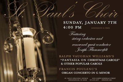 St. Paul's Choir Concert - Fantasia on Christmas Carols and Poulenc Organ Concerto