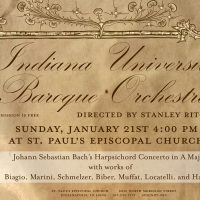 Indiana University Baroque Orchestra concert