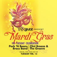 Mardi Gras 18 at The Jazz Kitchen with Pork N' Beans Brass Band and Clint Breeze and The Groove