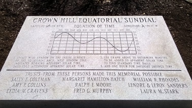 Crown Hill Equatorial Sundial - IndyArtsGuide org