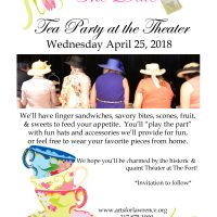 2nd Annual Tea Party at the Theater