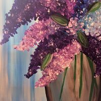 "Canvas Painting Party ""Lilacs"""