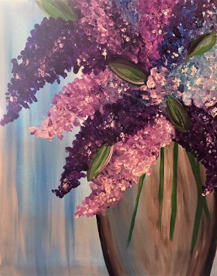 """Canvas Painting Party """"Lilacs"""""""