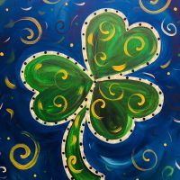 "Canvas Painting Party ""Shamrock"""