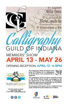 Calligraphy Guild of Indiana Members' Show