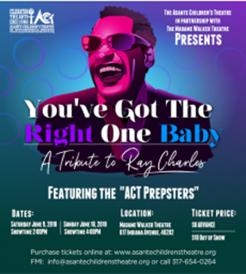 """""""YOU GOT THE RIGHT ONE BABY"""" - A Tribute to Ray Charles"""