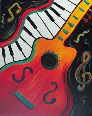 """Canvas Painting Party """"Guitar"""""""