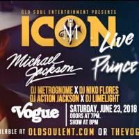 ICON Live - Michael Jackson & Prince at The Vogue