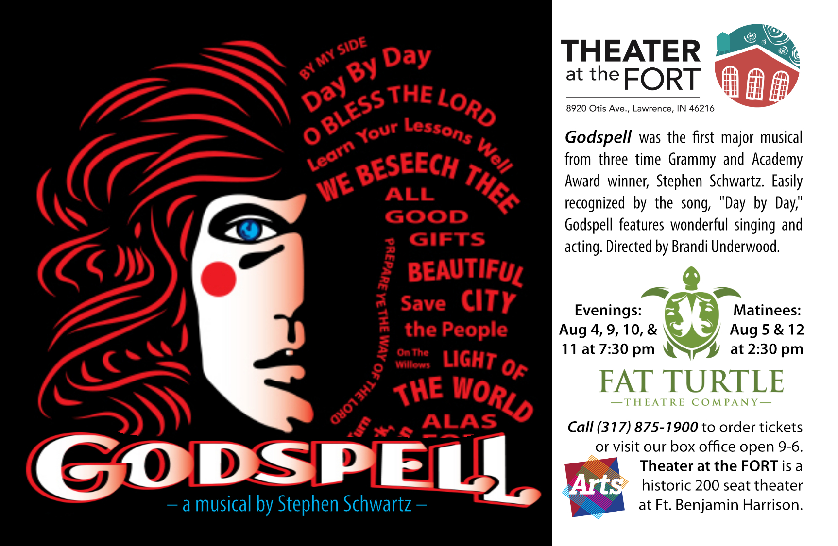 GODSPELL presented by Arts for Lawrence, Fat Turtle Theatre