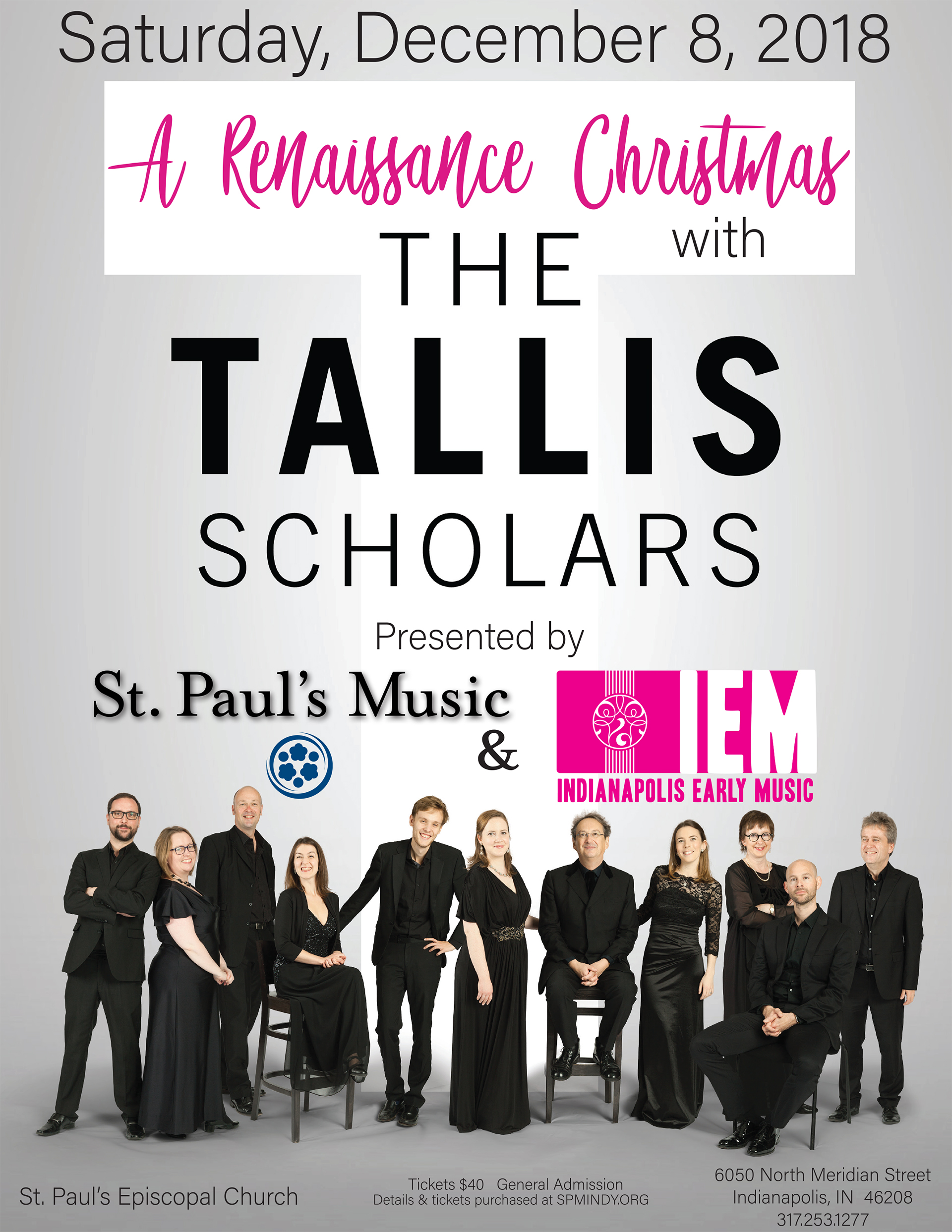 The Tallis Scholars presented by St. Paul\'s Music, Indianapolis ...