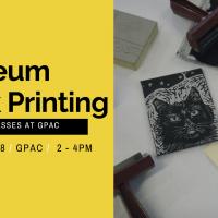 Linoleum Block Printing at GPAC