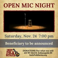 Open Mic Benefit at the Indy Folk Series