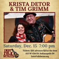 Krista Detor and Tim Grimm presented by the Indy Folk Series