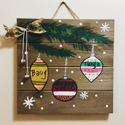 wood painting party holiday ornaments - Wooden Christmas Ornaments To Paint