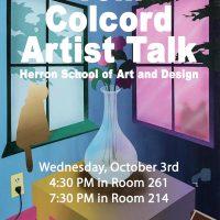 Tom Colcord Artist Talk