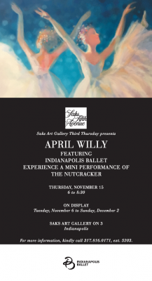 Saks Art Gallery presents: April Willy, featuring ...