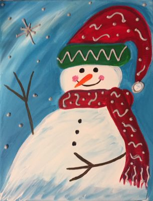 "KIDS Painting Party ""Happy Snowman"""