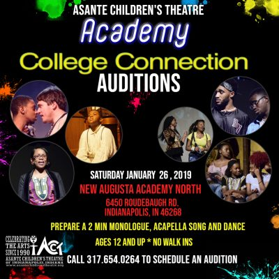 ACT Academy Auditions: College Connections Winter Session 2019