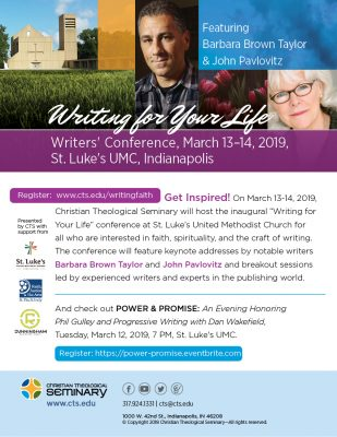 Writing for Your Life: Spiritual Writers' Conference