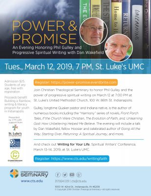 Power & Promise: An Evening Honoring Phil Gulley and Progressive Spiritual Writing with Dan Wakefiel