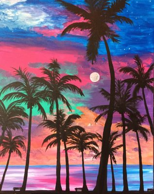 "Canvas Painting Party ""Tropical Nights"""