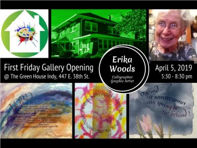First Friday Gallery Opening featuring Erika Woods, calligrapher and graphic artist