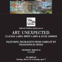 """""""Art. Unexpected."""" Claudia Labin, Irwin Labin, & Julie Zimmer at Saks Fifth Avenue"""
