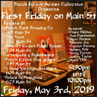 First Friday Beech Grove, May 3rd 2019