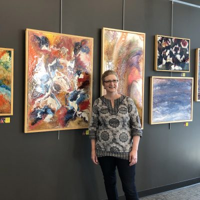 Opening Reception for Kristina Oliver's Pouring Into Abstraction Exhibit
