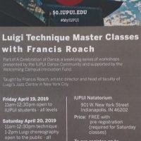 Luigi Technique Master Classes with Francis Roach