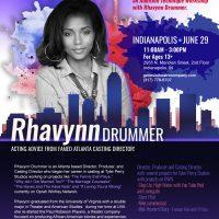 """RAVE-IN IT"" An Audition Technique Workshop with Rhavynn Drummer"