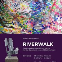 RIVERWALK, Martine Bachelart, Sculptures & Paintings at Kuaba Gallery